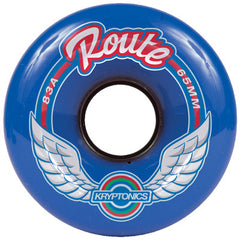 Kryptonics Route Skateboard Wheels 65mm 83a - Blue (Set of 4)