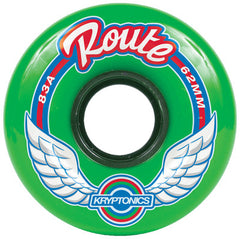 Kryptonics Route Skateboard Wheels 62mm 83a - Green (Set of 4)