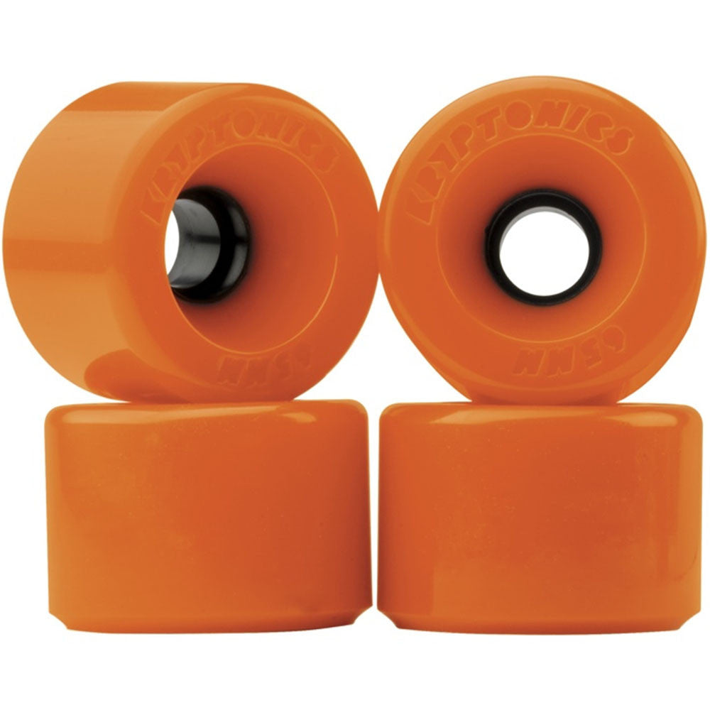 Kryptonics Star Trac Skateboard Wheels - Orange - 65mm (Set of 4)