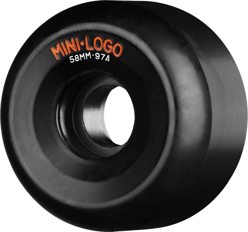 Mini Logo A-Cut Skateboard Wheels 58mm - Black (Set of 4)
