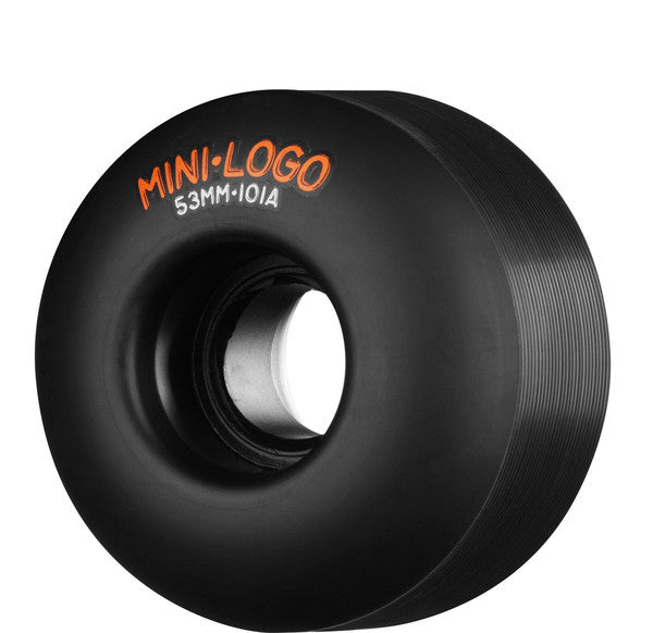 Mini Logo A-Cut Skateboard Wheels 53mm 101a - Black (Set of 4)