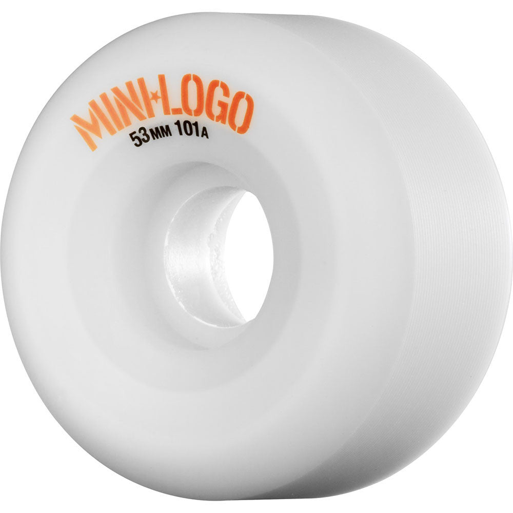 Mini Logo C-Cut Wheel Skateboard Wheels - White - 53mm 101a (Set of 4)
