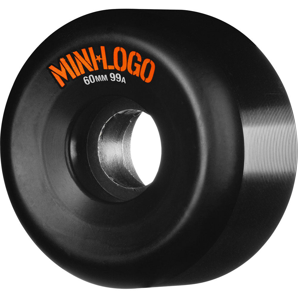 Mini Logo A-Cut Wheel Skateboard Wheels - Black - 60mm 99a (Set of 4)