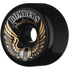 Powell Peralta Bombers Skateboard Wheels 68mm 85a - Black (Set of 4)