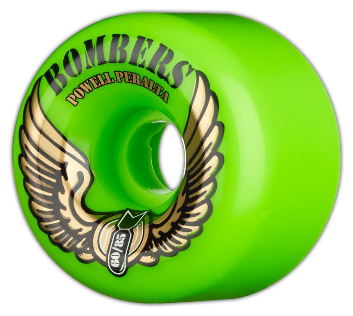 Powell Peralta Bombers Skateboard Wheels 60mm 85a - Green (Set of 4)