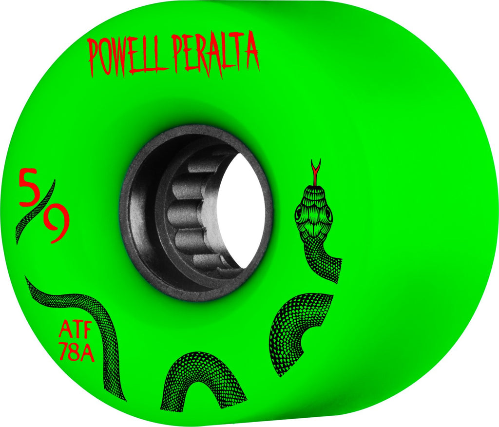 Powell Peralta ATF Skateboard Wheels 59mm 78a - Green (Set of 4)