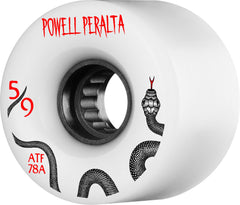 Powell Peralta ATF Skateboard Wheels 59mm 78a - White (Set of 4)