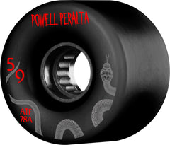 Powell Peralta ATF Skateboard Wheels 59mm 78a - Black (Set of 4)