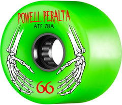 Powell Peralta ATF Skateboard Wheels 66mm 78a - Green (Set of 4)