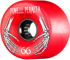 Powell Peralta ATF Skateboard Wheels 66mm 78a - Red (Set of 4)