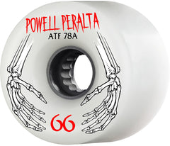 Powell Peralta ATF Skateboard Wheels 66mm 78a - White (Set of 4)