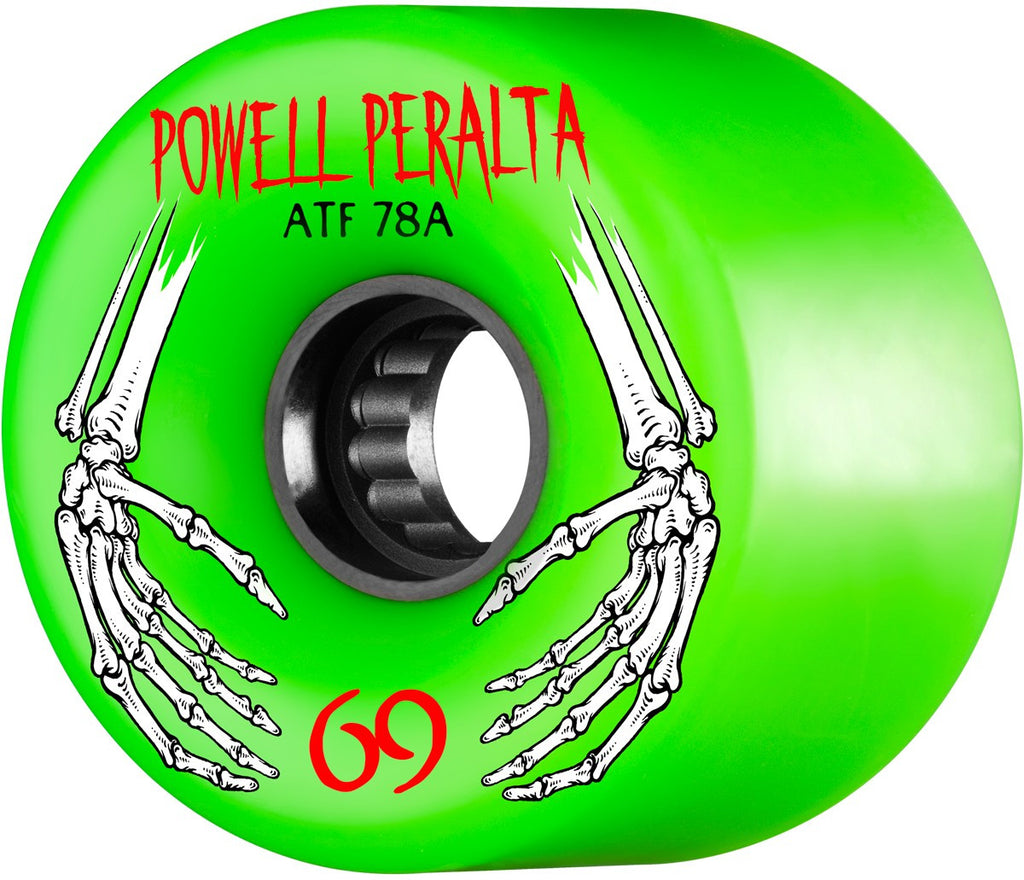 Powell Peralta ATF Skateboard Wheels 69mm 78a - Green (Set of 4)