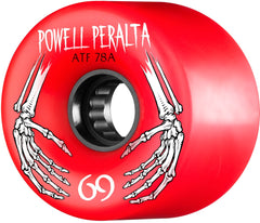 Powell Peralta ATF Skateboard Wheels 69mm 78a - Red (Set of 4)