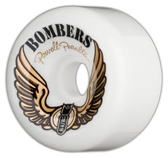 Powell Peralta Bombers III Skateboard Wheels 64mm 85a - White (Set of 4)