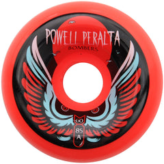 Powell Peralta Bomber III Skateboard Wheels - Red - 60mm 85a (Set of 4)