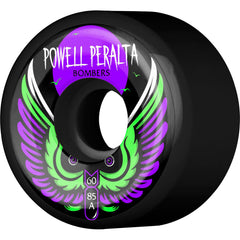 Powell Peralta Bomber III Skateboard Wheels - Black - 60mm 85a (Set of 4)