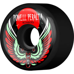 Powell Peralta Bomber III Skateboard Wheels - Black - 64mm 85a (Set of 4)