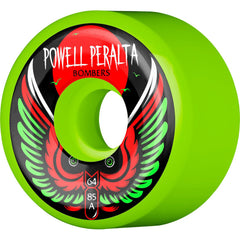 Powell Peralta Bomber III Skateboard Wheels - Green - 64mm 85a (Set of 4)