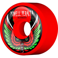 Powell Peralta Bomber III Skateboard Wheels - Red - 64mm 85a (Set of 4)