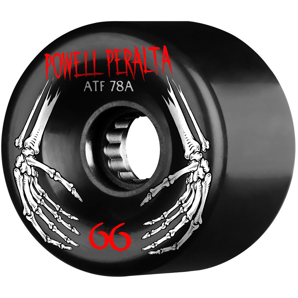 Powell Peralta ATF Skateboard Wheels - Black - 66mm 78a (Set of 4)