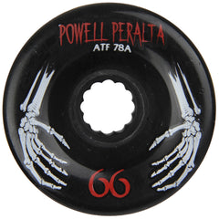 Powell Peralta All Terrain Skateboard Wheels - Black - 66mm 78a (Set of 4)