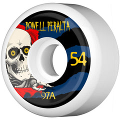 Powell Peralta  Ripper III Skateboard Wheels - White - 54mm 97a (Set of 4)
