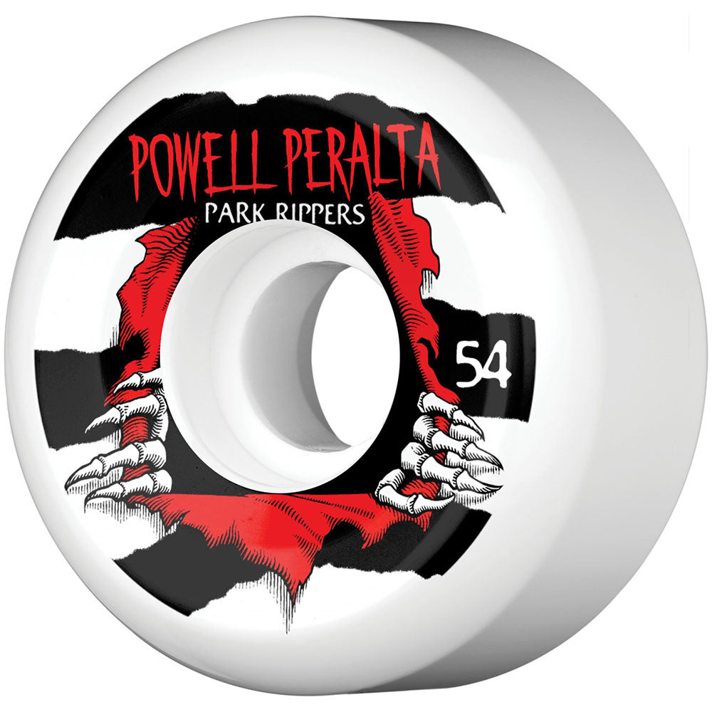 Powell Peralta Park Ripper PF Skateboard Wheels - White - 54mm 103a (Set of 4)