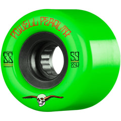 Powell Peralta G-Slides Skateboard Wheels - Green - 59mm 85a (Set of 4)