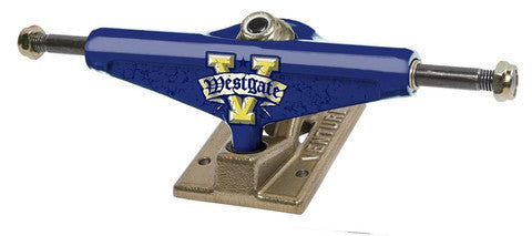 Venture Westgate Bevel Low Skateboard Trucks - 5.0 - Blue/Gold (Set of 2)