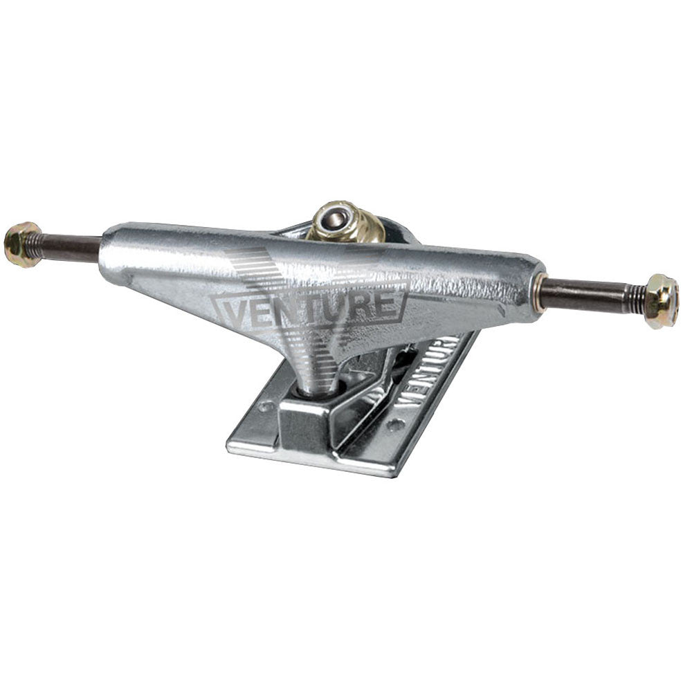 Venture Polished V-Hollow Light High Skateboard Trucks - 5.0in - Silver/Silver (Set of 2)