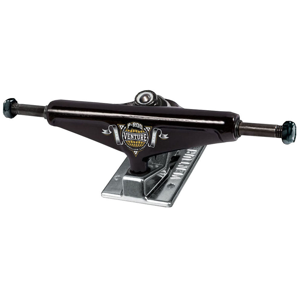 Venture P-Rod Champion 2 V-Hollow Light Low Skateboard Trucks - 5.0in - Black/Silver (Set of 2)