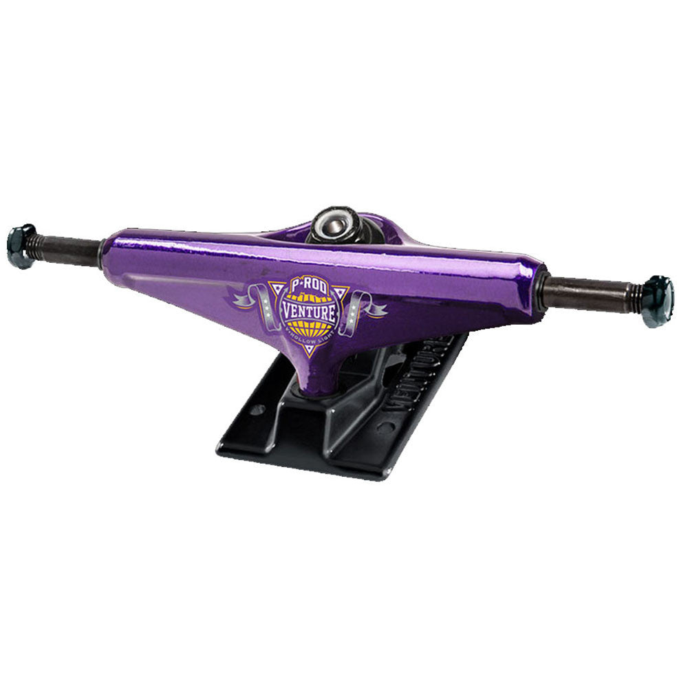 Venture P-Rod Champion 2 V-Hollow Light High Skateboard Trucks - 5.0in - Purple/Black (Set of 2)