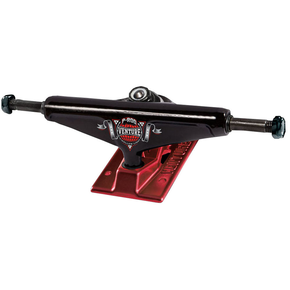 Venture P-Rod Champion 2 V-Hollow Light Low Skateboard Trucks - 5.25in - Black/Red (Set of 2)