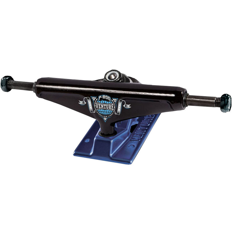 Venture P-Rod Champion 2 V-Hollow Light High Skateboard Trucks - 5.25in - Black/Blue (Set of 2)