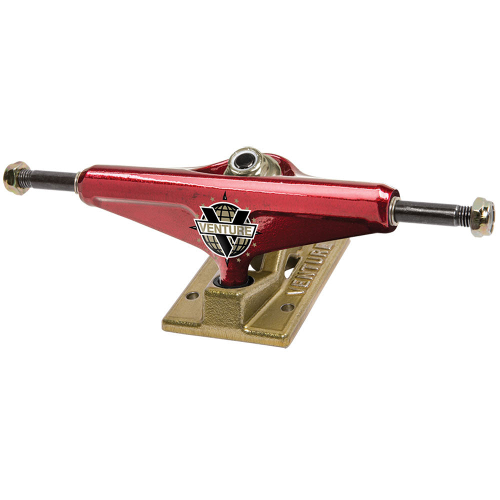 Venture Nick Tucker AM Edition Low Skateboard Trucks - 5.25in - Red/Gold (Set of 2)