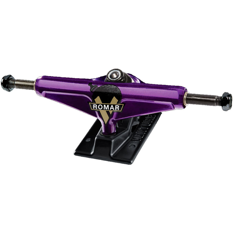 Venture Romar Cypress V-Lights Low Skateboard Trucks - 5.0in - Purple/Black (Set of 2)