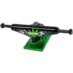 Venture Homegrown Low Skateboard Trucks - 5.25in - Black/Green (Set of 2)