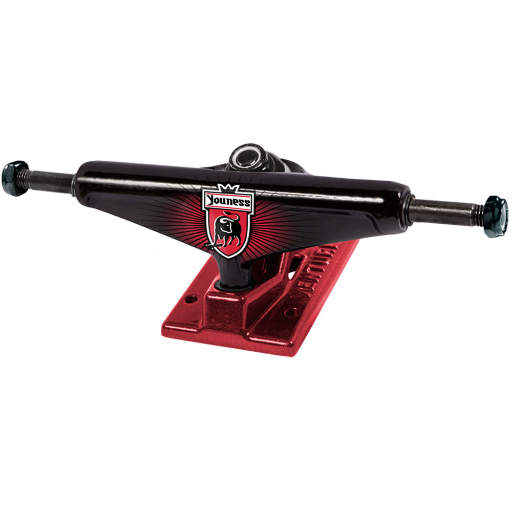 Venture Youness League High Skateboard Trucks - Black/Red - 5.0 (Set of 2)