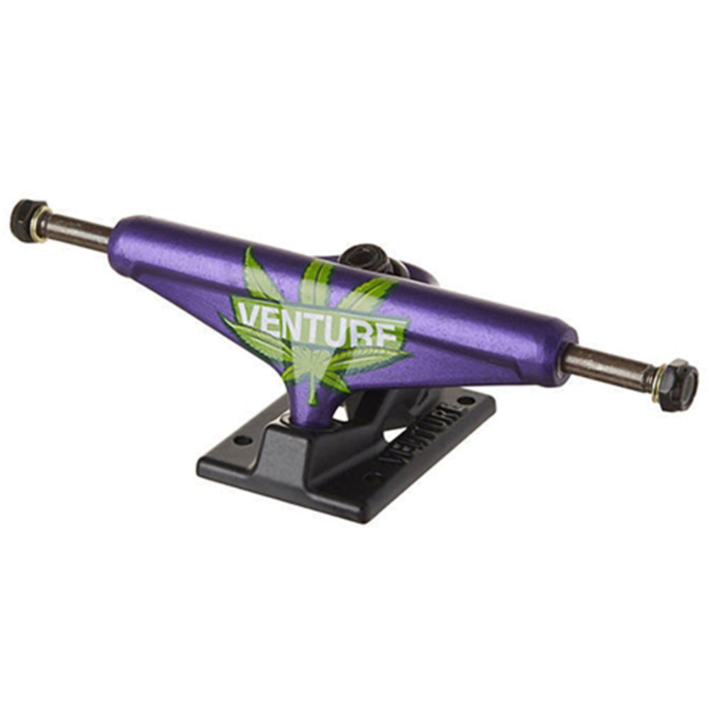 Venture Homegrown II Low Skateboard Trucks - Purple/Black - 5.0 (Set of 2)