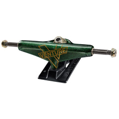Venture Bank Roll Marquee V-Light Low Skateboard Trucks (Set of 2) - Green/Gold - 5.0