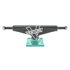 Venture Carbon Marque V-Light High Skateboard Trucks - Carbon/Teal - 5.0 (Set of 2)