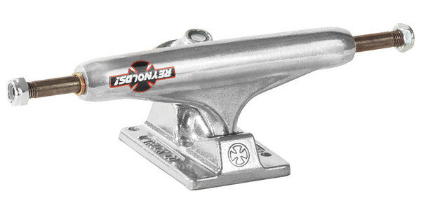 Independent 139 Stage 11 Reynolds GC Hollow Baker Standard Skateboard Trucks - Silver/Silver - 137mm (Set of 2)