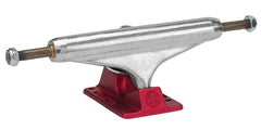 Independent 129 Stage 11 Polished Forged Hollow Standard Skateboard Trucks - Silver/Red - 127mm (Set of 2)