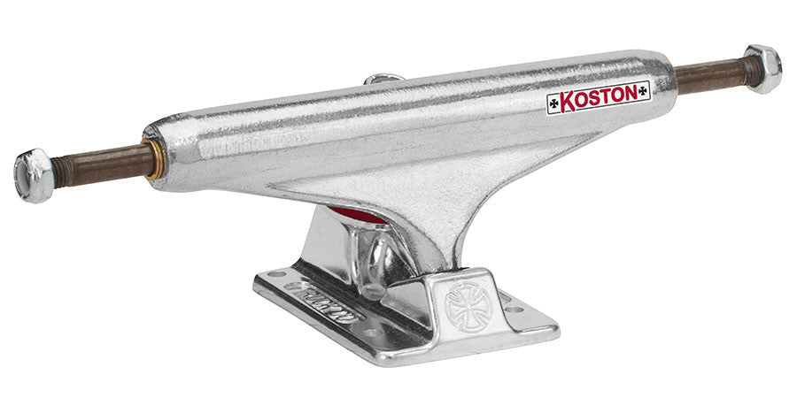 Independent 139 Stage 11 Koston II Forged Hollow Standard Skateboard Trucks - Silver/Silver - 137mm (Set of 2)