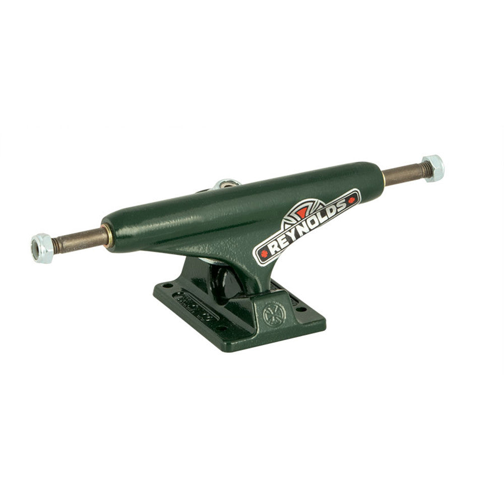 Independent 139 Stage 11 Reynolds GC Hollow Standard Skateboard Trucks - Green/Green (Set of 2)