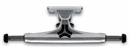 Destructo Raw Mid Skateboard Trucks - 5.25 - Silver/Silver  (Set of 2)