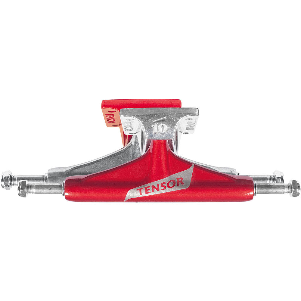 Tensor Aluminum Regular Switch Skateboard Trucks - Red/Raw - 5.5 (Set of 2)
