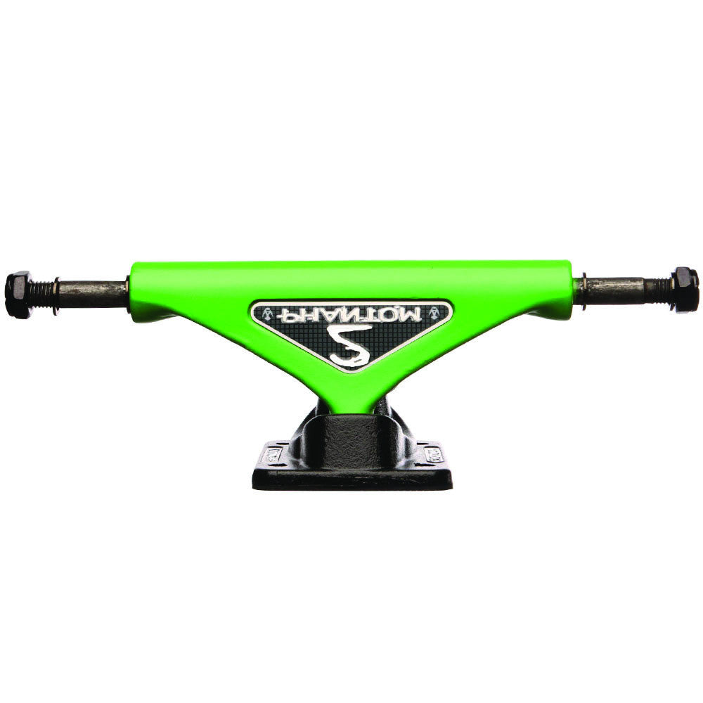 Phantom 2 Skateboard Trucks - Green - 7.5in (Set of 2)