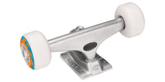 Krux OJ Farouts Skateboard Trucks - 3.5 Tall/52mm - 1t/2w/4b Assembly - Silver  (Set of 2)
