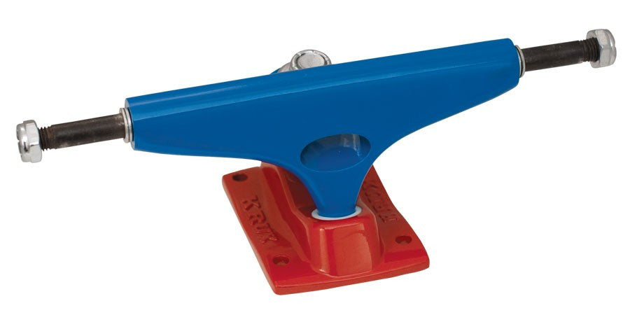 Krux 3.5 LTD USK Tall Skateboard Trucks - 5.0 - Blue/Red (Set of 2)